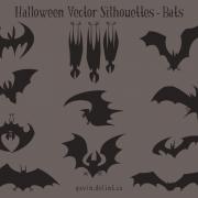 Halloween Vector Silhouettes – Bats