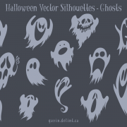 Halloween Vector Silhouettes – Ghosts