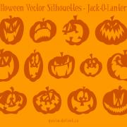 Halloween Vector Silhouettes – Jack O Lanterns