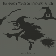 Halloween Vector Silhouettes – Witch